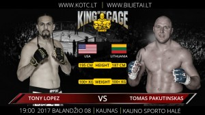 """King Of The Cage: Baltic Tour"" rezultatai"