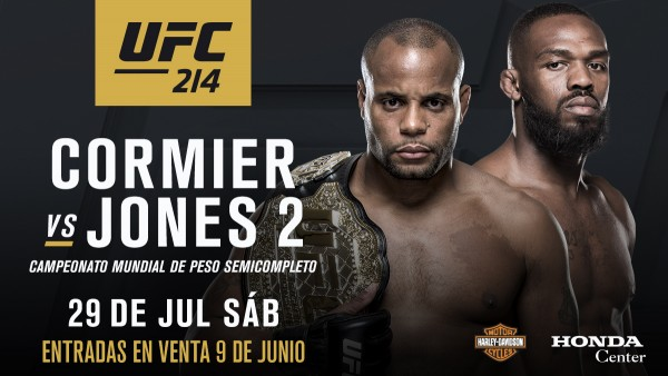 UFC 214: Cormier vs Jones 2 rezultatai