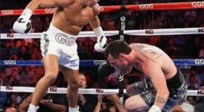 Genadijus Golovkinas nokautavo D. Geale ir išliko WBA čempionu (video)