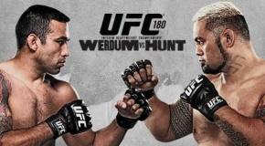 UFC 180 rezultatai