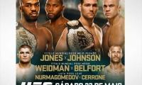 UFC 187 metu net dvi titulinės dvikovos