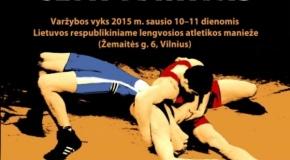 Vilniuje paaiškėjo Lietuvos imtynių čempionato nugalėtojai