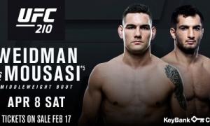 UFC 210: Chris Weidman prieš Gegard Mousasi